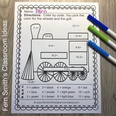 You will love the no prep, print and go ease of these Christmas Polar Express Color By Number Addition, Subtraction, Multiplication, and Division Christmas Themed Printables. This Christmas Polar Express Color By Number Addition, Subtraction, Multiplication, and Division Printables includes 12 pages for introducing or reviewing addition, subtraction, multiplication, and division. This bundle is perfect for differentiation in ESOL, ESL, Home Schooling and Special Education Classes. Multiplication And Division Practice, Addition And Subtraction Practice, Polar Express Activities, Christmas Color By Number, Color By Numbers, Differentiation, Math Resources, Math Lessons, Small Groups