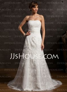 Wedding Dresses - $226.99 - A-Line/Princess Sweetheart Court Train Satin Tulle Wedding Dresses With Ruffle Lace Beadwork (002015167) http://jjshouse.com/A-Line-Princess-Sweetheart-Court-Train-Satin-Tulle-Wedding-Dresses-With-Ruffle-Lace-Beadwork-002015167-g15167