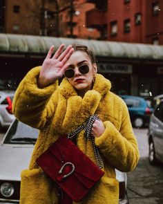 "3,312 Likes, 96 Comments - Andreea Birsan💐 (@andreeabirsan_) on Instagram: ""What's yellow, snuggly and looks like SpongeBob? My @boohoo coat 🌼💛. Check out www.couturezilla.com…"""