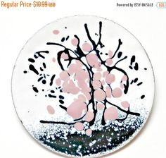 Bloom in Pinks & Greys  by V. Dotter on Etsy