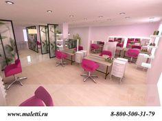 дизайн салона красоты розовый - Поиск в Google