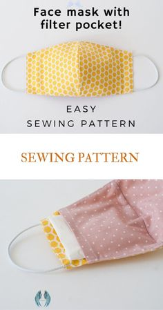 Face Mask Sewing Pattern PDF Mask with filter pocket Washable Reusable Mask Dust mouth Mask Beginner project DIY mask for kids man woman<br> Sewing Hacks, Sewing Tutorials, Sewing Tips, Sewing Projects For Beginners, Small Sewing Projects, Free Tutorials, Video Tutorials, Easy Face Masks, Face Mask Diy