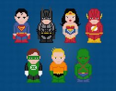 Looking for your next project? You're going to love Justice League of America Cross Stitch by designer pxlpwr.