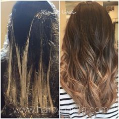Risultati immagini per balayage step by step pictures