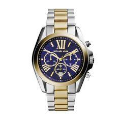 the fantastic interaction from silver, gold and the deep blue makes the 'Michael Kors Bradshaw Ladies Watch' absolutely unique and very elegant. Fashionette.com