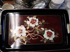 Toyo Flower Tin Tray