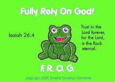 New! Green Fully Rely On God Pocket Card Isaiah 26:4