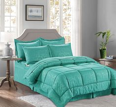 Elegant Comfort Luxury Best, Softest, Coziest 8-Piece Bed Comforter Sets, Best Bedding Sets, Luxury Bedding Sets, Farmhouse Bedding Sets, Textured Bedding, Cool Comforters, Bamboo Design, Bed In A Bag, King Pillows