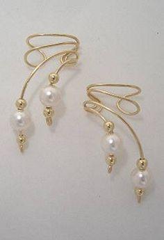 Ear wrap - pearl