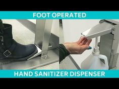 Step On Germs Hands Free Foot Pedal Operated Hand Sanitizer Dispenser - YouTube Hand Sanitizer Dispenser, Bicycle Design, Hand Washing, Science And Technology, Workplace, Hands, Deer Hunting, Free, Lettering