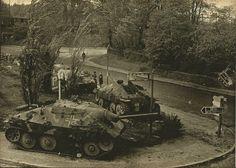 "A couple of German Jagdpanzer ""HETZER"" 38t tanks."