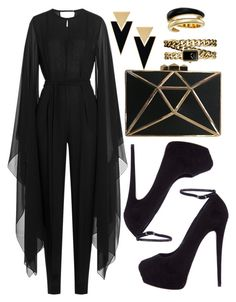 """Untitled #4267"" by natalyasidunova ❤ liked on Polyvore featuring Emilio Pucci, Giuseppe Zanotti, Yves Saint Laurent, Michael Kors and Chanel"