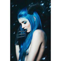 "darkbeautymag  ""Abrahel"" —  Photographer: Juan Trujillo Makeup: Carmen Velasco Model: Yuxi Suicide"