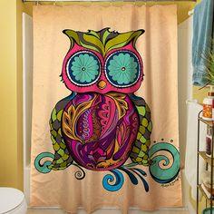 Manual Woodworkers U0026 Weavers Owl Branch Gregir Shower Curtain