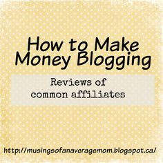 Musings of an Average Mom: Review of Affiliates