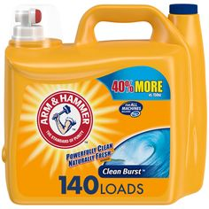 Arm And Hammer Clean Burst, Arm And Hammer Sensitive, Baking Soda Cleaner, Arm And Hammer Baking Soda, Best Laundry Detergent, Washing Machines, Affordable Clothes, Diy Tank, Diy Shirt