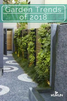 Natural finishes can give outdoor spaces an organic appeal, textural finishes will add depth and interest to your garden. Texture can be implemented through garden flooring by using raw materials, read our article for the latest garden trends! [Garden Trends, Garden Trends of 2018, Landscaping Trends, Wall Fountain, Pebble Walkway, Textured Garden Flooring, Modern Garden Ideas, Pebble Mosaic]