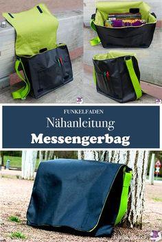 Freebook - Nähanleitung Messenger Bag - Kostenfreier Anleitung für eine Messenger Bag / Umhängetasche