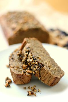 Peanut Butter Espresso Banana Bread | This homemade banana bread recipe is so much better with peanut butter in it.