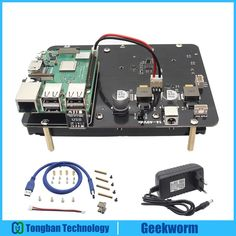 Raspberry Pi X830 3.5 inch SATA HDD Storage Expansion Board w/ USB 3.0 + 19V 2A Power Adapter Kit for Raspberry Pi 3 Model B+/3B Review Projetos Raspberry Pi, Hdd, The Expanse, Technology, Electronics, Storage, Board, Model, Accessories