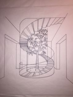 Concept drawing spiral staircase art in 2019 drawing Interior Architecture Drawing, Architecture Concept Drawings, Interior Design Sketches, Stairs Architecture, Architecture Interiors, Staircase Drawing, Staircase Design, Door Gate Design, How To Draw Stairs
