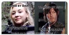 Beth Greene and Daryl Dixon | Bethyl, twd couple - The Walking Dead