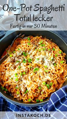 One Pot Spaghetti, One Pot Pasta, A Food, Food And Drink, Italian Dishes, Easy Cooking, Chicken Recipes, Dinner Recipes, Veggies