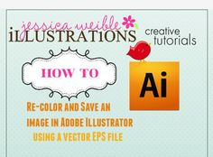 how to re-color and save an image in adobe illustrator
