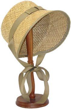 Ladies Hat - Straw Settler's Bonnet