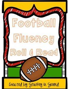 Football Fluency Phrase Roll & Read (All 6 Levels!)