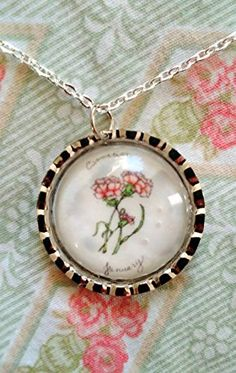 Pretty Pink Roses jewelry pendant  handmade and sealed with a glass cabochon  wearable art