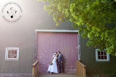 The beautiful faded red doors on the Barn at Walnut Hill! Photo by Kate Crabtree Photography www.realmaineweddings.com