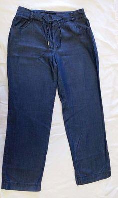 Charter Club Classic Fit Tencel Pants Womens Petite sz 2 Light jeans Blue 2P #CharterClub #CasualPants