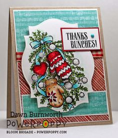 My Stamping Thyme: Power Poppy Friday. Bough Wow Wow Stamp Set by Power Poppy, card design by Dawn Burnworth.