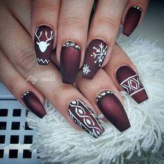 Xmas Nails, Holiday Nails, Christmas Nails, Red Christmas, Beautiful Christmas, Christmas Nail Art Designs, Winter Nail Designs, Winter Nails, Summer Nails