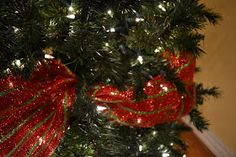 Kristen's Creations: Decorating A Christmas Tree With Mesh Ribbon Tutorial