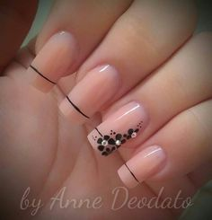 Trendy Nail Art, Easy Nail Art, Elegant Nail Designs, Nail Art Designs, Fancy Nails, Pretty Nails, Hair And Nails, My Nails, Nagel Hacks