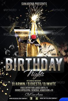 20 Beautifully Designed PSD Birthday Party Flyer Templates