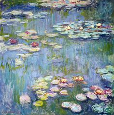 Claude Monet Water Lilies I print for sale. Shop for Claude Monet Water Lilies I painting and frame at discount price, ships in 24 hours. Renoir, Monet Paintings, Flower Paintings, Landscape Paintings, Abstract Paintings, Abstract Landscape, Impressionist Paintings, Fine Art, Water Lilies