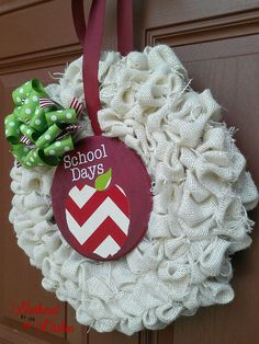 DIY Rag Wreath Tutorial - Beginner Level Project & Costs Under $10 - Gathered In The Kitchen Mesh Ribbon Wreaths, Christmas Mesh Wreaths, Burlap Wreaths, Winter Wreaths, Floral Wreaths, Spring Wreaths, Summer Wreath, Door Wreaths, Christmas Ideas