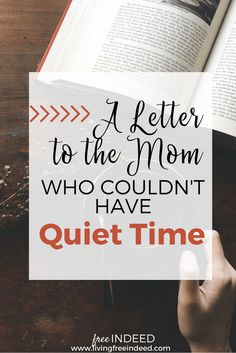 To the Mom Who Could