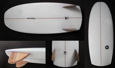"""The Trash Can   Mini Simmons - new rocker, new refined foil, new fins. Narrower outline, Arctaill, new logos. Shaped by Adrian Knott.   Dims: 5'0 x 21 1/2"""" x 2 3/8"""""""