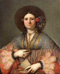 Portrait of a Venetian Lady by Girolamo Forabosco,1659
