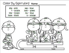 Classroom Freebies Too: Color By Sight Word- Winter Fun