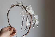 Flower Cascade Crown Wedding Tiara wedding accessories by deLoop, $60.00
