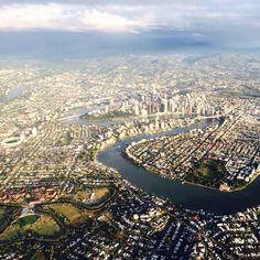 aerial shot, Brisbane QLD Australia