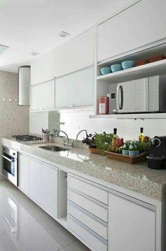 51 ideas for kitchen modernas blancas Modern Kitchen Interiors, Kitchen Decor, Kitchen Modular, Kitchen Room Design, Kitchen Interior, Interior Design Kitchen, Kitchen Layout, Kitchen Furniture Design, Modern Kitchen Design