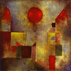 Paul Klee, Ballon rouge. http://www.eternels-eclairs.fr/tableaux-klee.php#