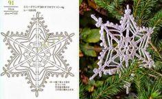 Crochet Christmas Decorations, Crochet Decoration, Crochet Ornaments, Snowflake Ornaments, Diy Christmas Ornaments, Crochet Snowflake Pattern, Christmas Crochet Patterns, Holiday Crochet, Crochet Snowflakes