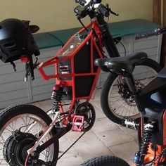 Support Sardinian BlackRed fat  e - bike by Italian @gianluigischia -LaboratorioGh - Cromotor…""